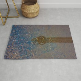 Reflection of Steel Tower on the Water Rug