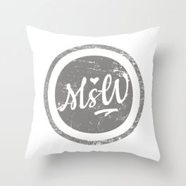 Vintage MSW Artwork, Social Worker Throw Pillow