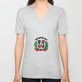 seal of the dominican republic-dominican,hispaniola,dominicana,antilles,caribean,santo domingo Unisex V-Neck