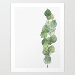 Golden Eucalyptus Minimal IV Art Print