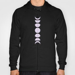 Minimal Moon Phases - Lilac Purple Hoody