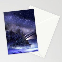 Snowy Night Train Stationery Cards