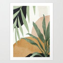 Abstract Art Tropical Leaves 4 Art Print