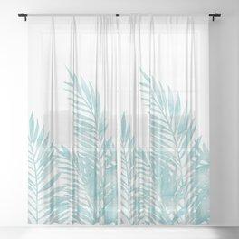 Palm Leaves Island Paradise Sheer Curtain