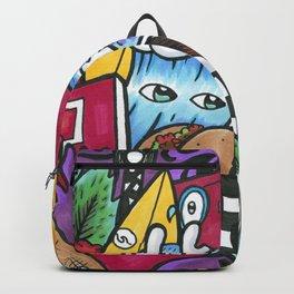 City Life Graffiti Wall Art Backpack