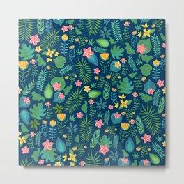 Leaf Seamless Pattern Metal Print