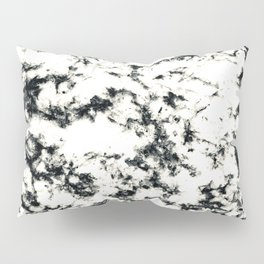 Epic Black and White Harlequin Marble Pattern Pillow Sham