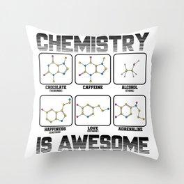 Chemistry Caffeine Alcohol Love Molecule Gift Throw Pillow