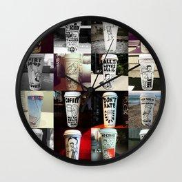 24 Coffee Cups Wall Clock