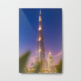 Burj Khalifa at Sunset Metal Print