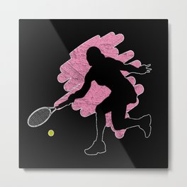 Tennis Player Girl Women Metal Print