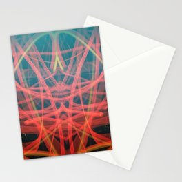 Devil Light Painting in Red and Black  Stationery Cards