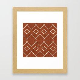 Bath in Rust Framed Art Print
