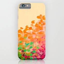 CREATION IN COLOR Autumn Infusion - Colorful Abstract Acrylic Painting Fall Splash Ombre Ocean Waves iPhone Case