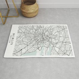 Dublin Ireland Blue Water Street Map Rug