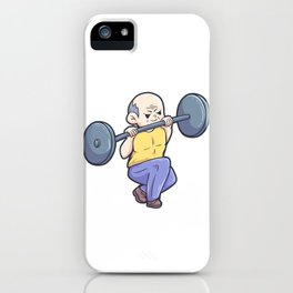 Gym Fitness Workout grandpa husband's pension iPhone Case