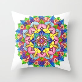 skyflower 5 Throw Pillow