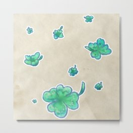 Shamrock Shower Metal Print