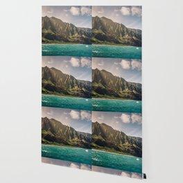 Na Pali Coast Kauai Hawaii Printable Wall Art   Tropical Beach Nature Ocean Coastal Travel Photography Print Wallpaper