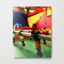 Foosball player Metal Print