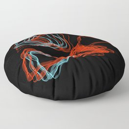 Abstract Contours Floor Pillow