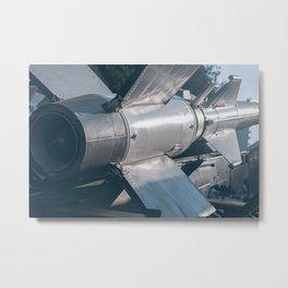 Ballistic Rocket. Nuclear Missile With Warhead. Metal Print
