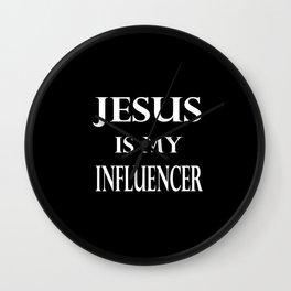 Religion - Jesus Is My Influencer Wall Clock