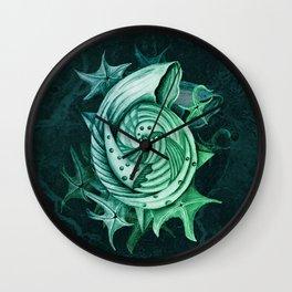 Dystopian Conch - Lambent Green Wall Clock