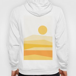 Abstract Landscape 09 Yellow Hoody