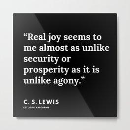 120     | 191121 | C. S. Lewis Quotes Metal Print