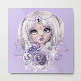 Lavender Grey - Sugar Sweeties - Sheena Pike Art & Illustration Metal Print