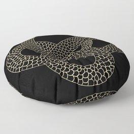Vintage line snake Floor Pillow