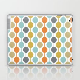 Retro Circles Mid Century Modern Background Laptop & iPad Skin