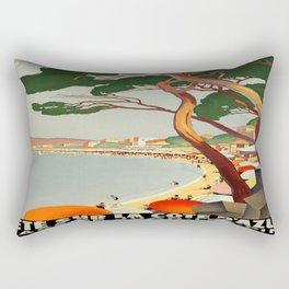 Vintage poster - Cote D'Azur, France Rectangular Pillow