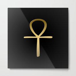 Ankh cross Egyptian symbol Metal Print