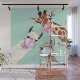 Bubble Gum Gang in Green Wall Mural