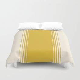 Marigold & Crème Vertical Gradient Duvet Cover