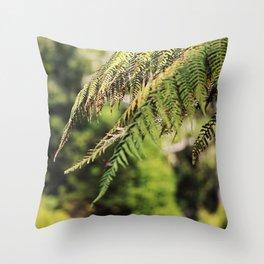 New Zealand Silver Fern Throw Pillow