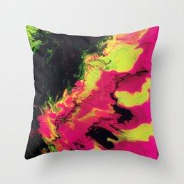 Vivid Strata Throw Pillow