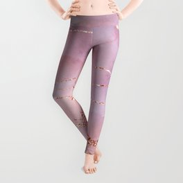 Blush and Purple Sky with Rose gold flashes Leggings