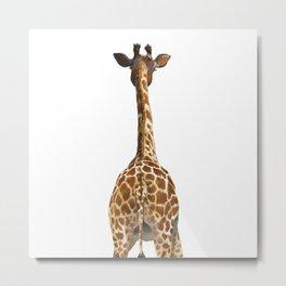 Giraffe Butt Metal Print