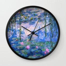 Water Lilies Monet Wall Clock