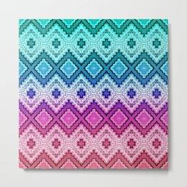 Woven Pastels Metal Print