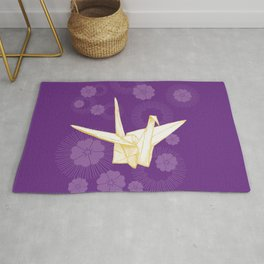 Paper Crane and Cherry Blossoms Rug