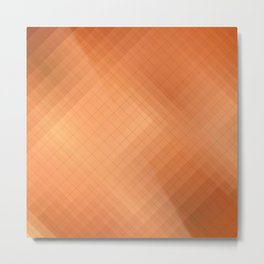 Non-ferrous metals: brass. Abstract gradient art geometric background with soft color tone, cell gri Metal Print