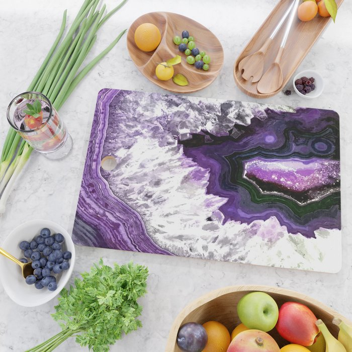 Ultra Violet Agate Illustration Cutting Board