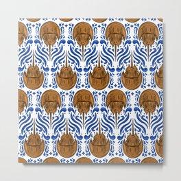 Horseshoe Crab Pattern Metal Print