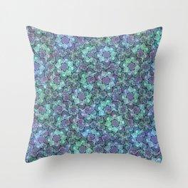 Blue Sedum Spiral Pattern Throw Pillow