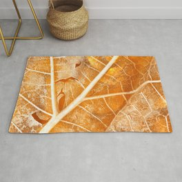 Burning Bokeh Leaf Rug
