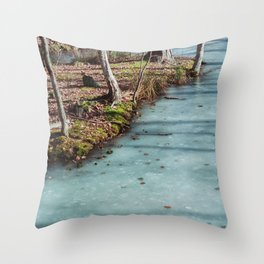Stockholm: Skansen Frozen River Throw Pillow